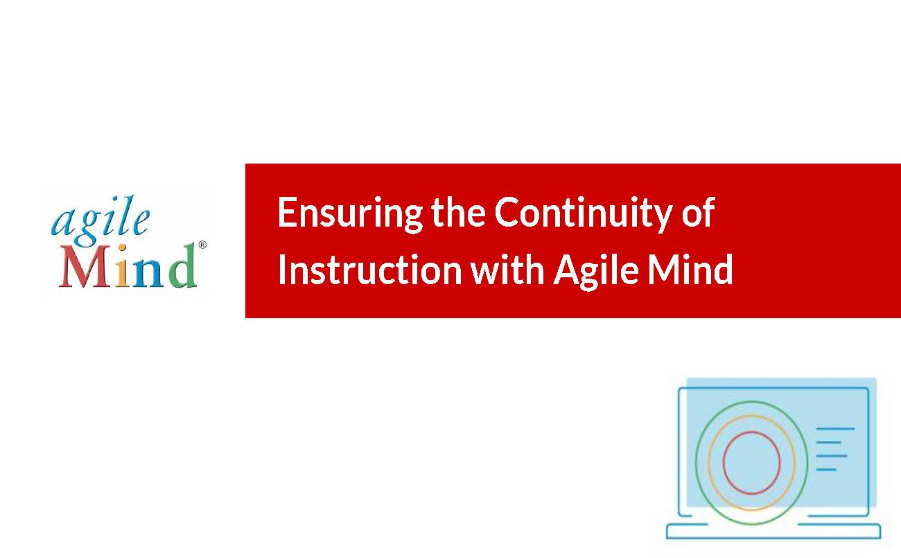 Distance Learning with Agile Mind Webinar