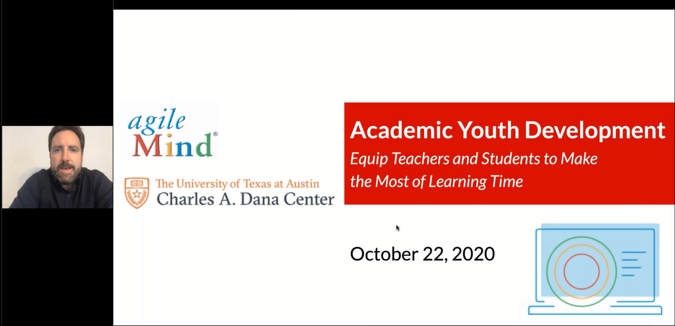 Academic Youth Development 10.22.20 Equip Teachers & Students to Make the Most of Learning Time.